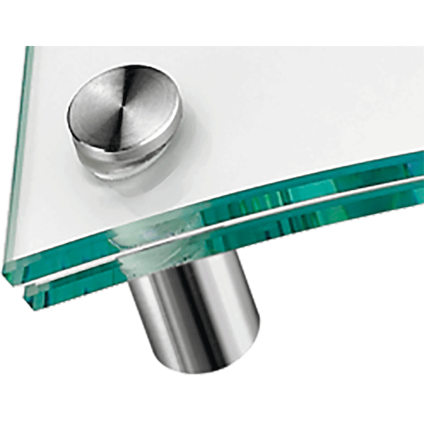 lapos fejű ClassicLine táblatartó domború üveghez