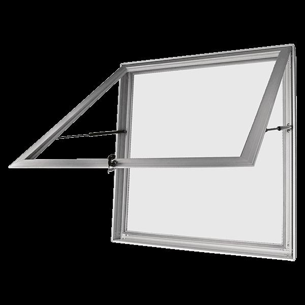 közepes poszterszekrény LED megvilágítással