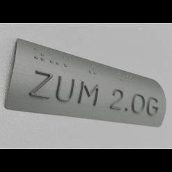 Tapintható alumínium korlátjel