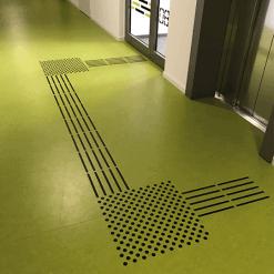 Tapintható padlójel