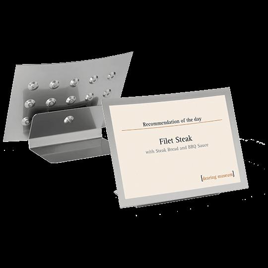 mágneses info keret - asztali