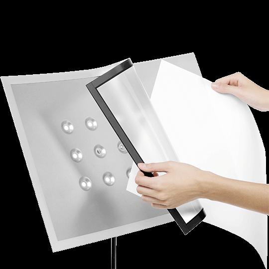 mágneses info keret - infoboard