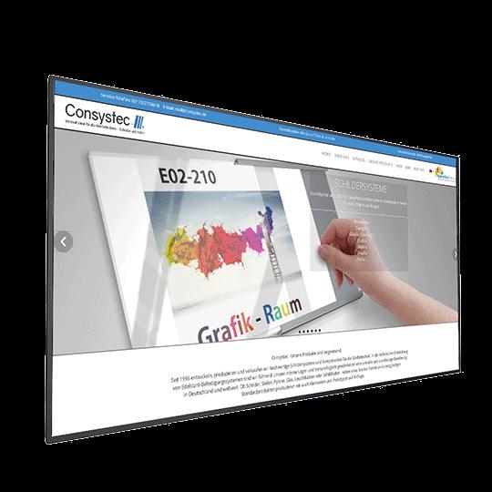 Beltéri nagyméretű digitális tábla - MediaFix Screen Indoor